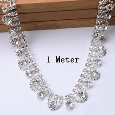 1M Rhinestone Chain Floral Trim Crystal Diamante Ribbon Wedding Accessories DIY
