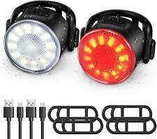 Luce Bici, Luci per Bicicletta Ricaricabile USB Fanale Posteriore Anteriore con