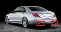 NEW GENUINE MERCEDES S CLASS W222 AMG STYLE EXHAUST TAIL PIPE CHROME TRIM PAIR