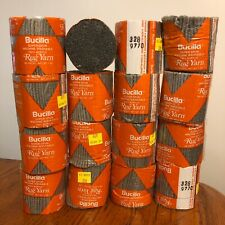 New Old Stock Lot 16 Bucilla Pre Cut Latch Hook Yarn Pewter Grey #328