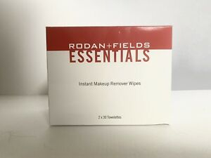 Rodan + and Fields Essentials Instant Makeup Remover Wipes 2 x 30 Towelettes