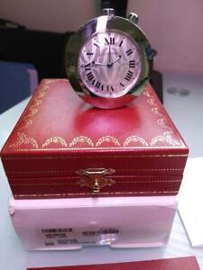 *** Cartier / Pasha Mini / travel / Desk Alarm Clock ***