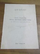 """G. RUSSO """" NOTE PRATICHE SULLA RIFORMA TRIBUTARIA """" MILANO 1957 L-19"""