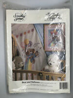 Something Special Bear Balloons Baby Afghan Counted Cross Stitch NIP VTG USA HTF