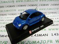 AP64G voiture 1/43 AUTOPLUS IXO : VW VOLKSWAGEN new beetle 1998 bleu