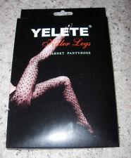 YELETE KILLER LEGS SPANDEX SEAMLESS SEXY PATTERN FISHNET PANTYHOSE - ONE SIZE