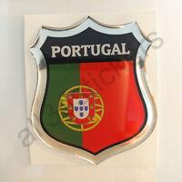 Pegatina Portugal 3D Escudo Emblema Vinilo Adhesivo Resina Relieve Coche Moto