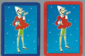 Genuine Swap Vintage Playing Card  Comic  OLD WIDE x 2 1997