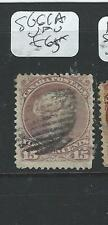 CANADA (P2507B) QV LARGE QUEEN  15C RED VIOLET SHADE SG 61A  VFU