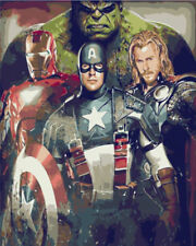 """Paint By Numbers Kits For Adult Kids Gift  Acrylic Paint THE AVENGERS 16"""" X 20 """""""