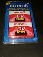 Maxell 2 Pack Mini DV Digital Video Cassette Tape 60 Minute Brand New!