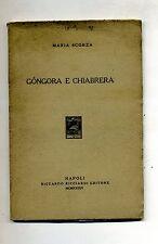 Maria Scorza # GÓNGORA E CHIABRERA # Riccardo Ricciardi Editore 1934