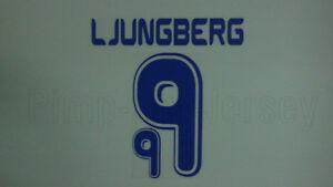LJUNGBERG #9 Sweden Home World Cup 2006 Name Set