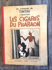 TINTIN - LES CIGARES DU PHARAON - N/B  - 1938 - A6 - BE