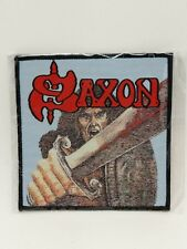SAXON Band SELF TITLED WOVEN PATCH NWOBHM Iron on Embroidered Jacket Badge USA