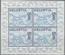 SCHWEIZ, 2000 St. Galler Stickerei 1726 Kleinbogen **, (18258)