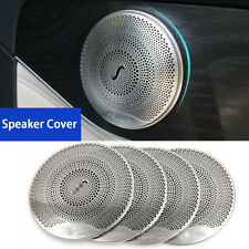 4Pc Chrome Door autio Speaker Cover  for Mercedes Benz GLC C/E Class Door Audio