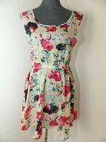 Neues Fashion Damen Kleid Gr. L Blumendruck Sommerkleid NEU/OVP