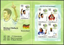 Guinea - Bissau 2005 Soccer Germany 2006 Booklet FDC on st. M. Ballack (Germany)
