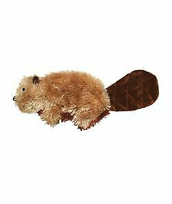 KONG Beaver Plush Dog Toy No Messy Filling Easy to Replace Squeaker