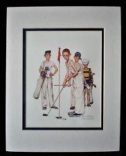 New ListingNorman Rockwell Sports Golf Missed Artwork Reprint 11x14 Ready To Frame Dbl Mat