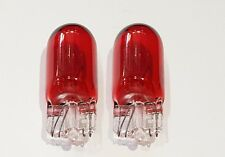 Red 501 (T10/W5W) 12v 5w Capless Car Bulbs (Pair)