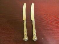 IS VINTAGE GRAPES 2 Orange Knives 1847 Rogers Vintage Silverplate Flatware Lot A