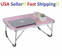 Portable Adjustable Folding Laptop Desk Foldable Study Computer Bed Table Stand