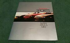 1986 TOYOTA SPORTS - MR2 CELICA & SUPRA - UK BROCHURE