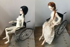 retro wheel chair props miniature medical for 1/6 1/4 bjd doll MSD