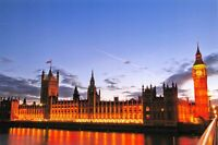 Pack of 10 New Glossy London Postcards by Cavalier, Houses of Parliament 93G