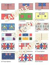 1/72 28mm Foundry style AWI American War of Independence flags X18