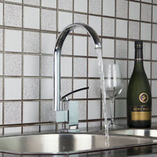 Cold&Hot Single Handle Kitchen Basin Sink Swivel Mixer Taps Chrome Water Faucet