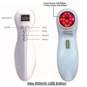 Handy Kalt Laser Therapiegerät Allgemeine Schmerztherapie Soft Cure Lazer 600mW