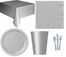 24 Pièces Variés couvert de table en Plastique Amscan Anniversaire/fête/ Argent