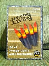Holiday Living 100 Count Orange Mini Lights Black Wire Indoor/Outdoor Halloween