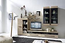 Wall Unit Furniture Set Oak Sonoma TV Units Display Cabinets Shelves LED