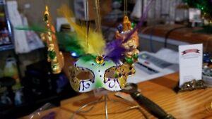 Mardi Gras glitter Mask ornament, Mardi Gras magnet, Mardi Gras Decorations