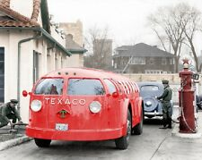 Texaco Gas Station 1935 Diamond T Doodlebug Tanker Semi Truck Rig 8x10 Photo 11