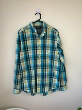 Nautica Blue Checkered Long Sleeve Button Up Shirt - Size M