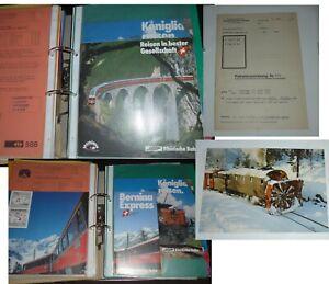 Schweiz Rätische Bahn Verkehrsgeschichte Eisenbahn Zug Geschichte Sammlung