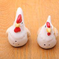 Chickens Salt & Pepper Shakers Ceramic Vintage