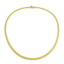 """18 KT Yellow Gold Polished Braided Basket Weave Chain Necklace 18"""" NEW"""