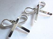 Ribbon of Remembrance Stud Earrings 925 Sterling Silver Corona Sun Jewelry