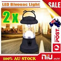 2 x New LED Portable Lantern Outdoor Travel Camping Hiking Lamp Bivouac Light AU