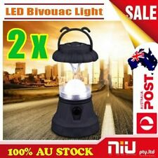 2 x New LED Portable Lantern Outdoor Travel Camping Hiking Lamp Bivouac Light AU