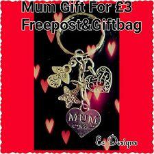 MUM Birthday GIFT  MADE FOR A ANGEL HEART keyring Handmade Freepost&Bag