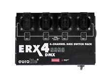 Eurolite ERX-4 DMX Switchpack 4 Kanal Pack für LED Effekte geeignet XLR Anschl.