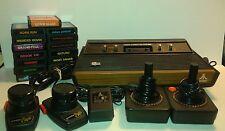Atari 2600 Console Bundle System 2 Joysticks Pair of Paddles Choice of 15 Games