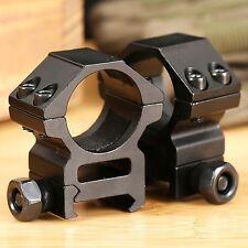 "2XTactical 25.4mm 1"" Medium Profile Scope Laser Ring Picatinny Weaver Rail Mount"